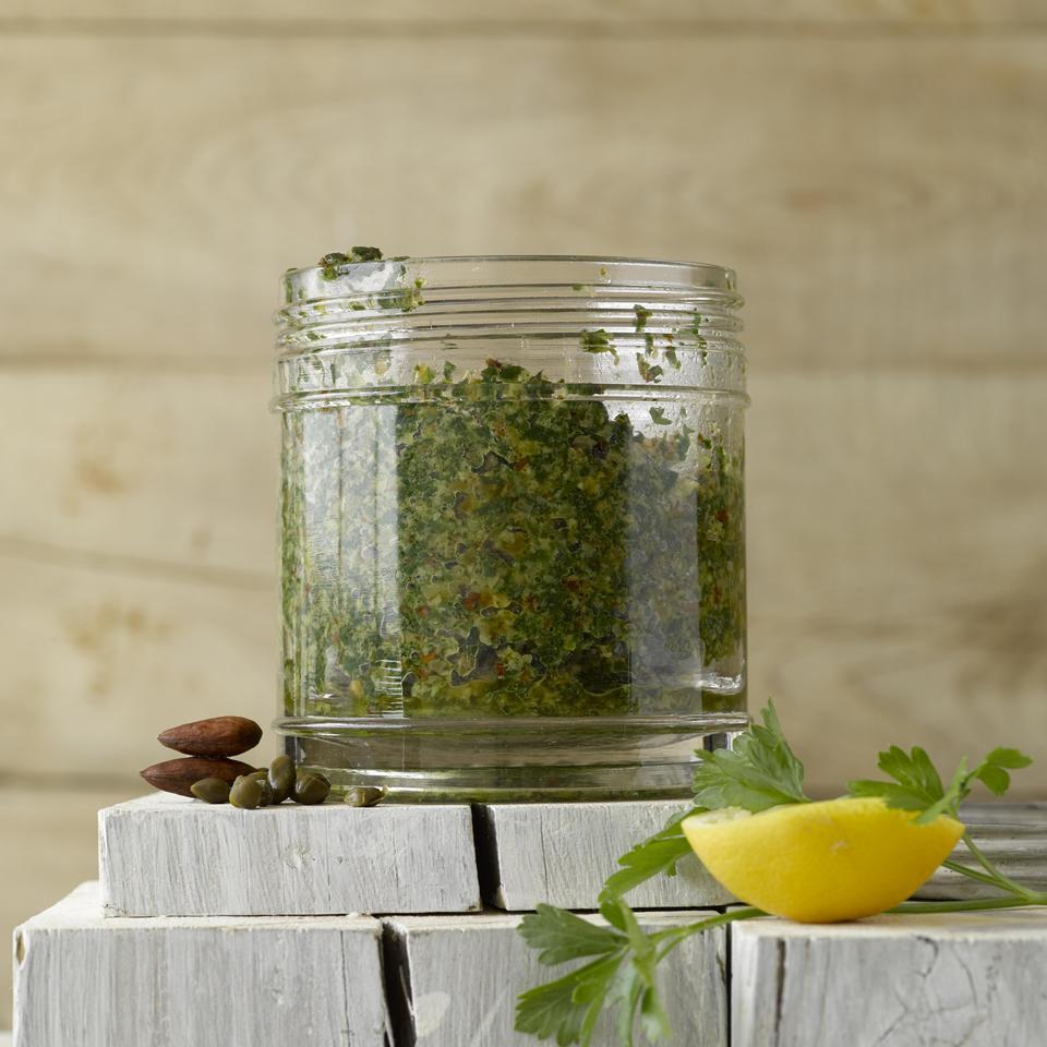 <p>In this dairy-free parsley pesto recipe, lemon juice and zest pack a citrusy punch to brighten any dish. Try it dolloped on grilled fish or stirred into pasta for an instant flavor boost.</p>