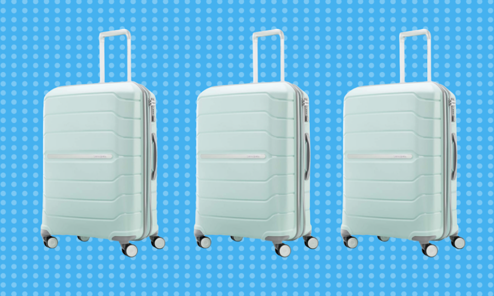 Stand out from the crowd with this pretty suitcase. (Photo: Amazon)