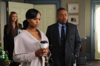 """<div class=""""caption-credit""""> Photo by: ABC</div>SCANDAL: Last week, the new show about a White House crisis management team, had its highest ratings yet. The reason? Serious <a href=""""http://www.cinemablend.com/television/Scandal-Sees-Ratings-Boost-Largest-Audience-Ever-With-Happy-Birthday-Mr-President-50165.html"""" rel=""""nofollow noopener"""" target=""""_blank"""" data-ylk=""""slk:plot twist"""" class=""""link rapid-noclick-resp"""">plot twist</a>."""