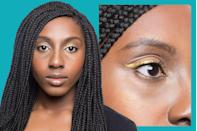 <p>If your eyes are oval-shaped with narrow corners, you likely have <strong>almond-shaped eyes</strong>.</p><p>For almond eyes, Lavonne recommends taking advantage of your lid space. Draw your eyeliner from the inner corner all the way across the lash line, then flick it out, stopping at the tip where your crease starts.</p>