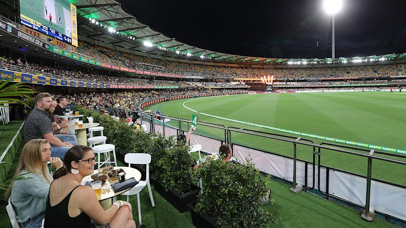 The Gabba crowd, pictured here during Australia's win over Sri Lanka.