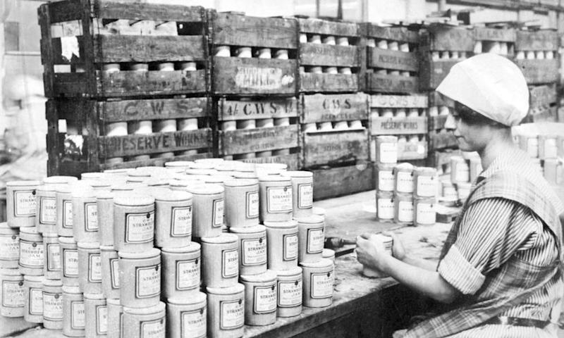 Worker in the Co-operative Wholesale Society's Middleton jam factory, 1929