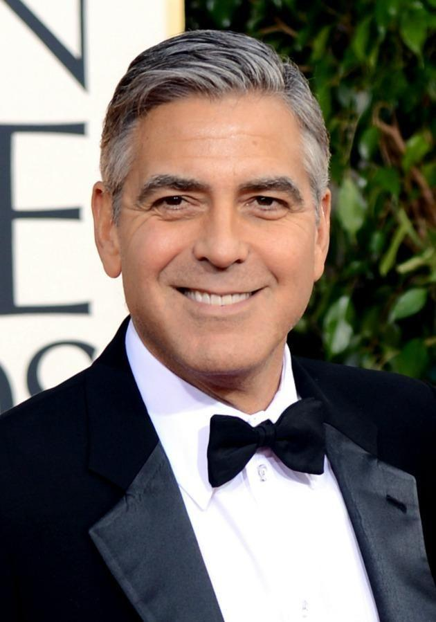 This is what we picture when we think of the handsome George Clooney, hence our initial double take of him now. Source: Getty
