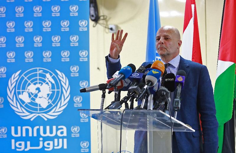 Claudio Cordone, the head of UNRWA in Lebanon, says the future looks dire for Palestinian students, and for his agency (AFP Photo/ANWAR AMRO)