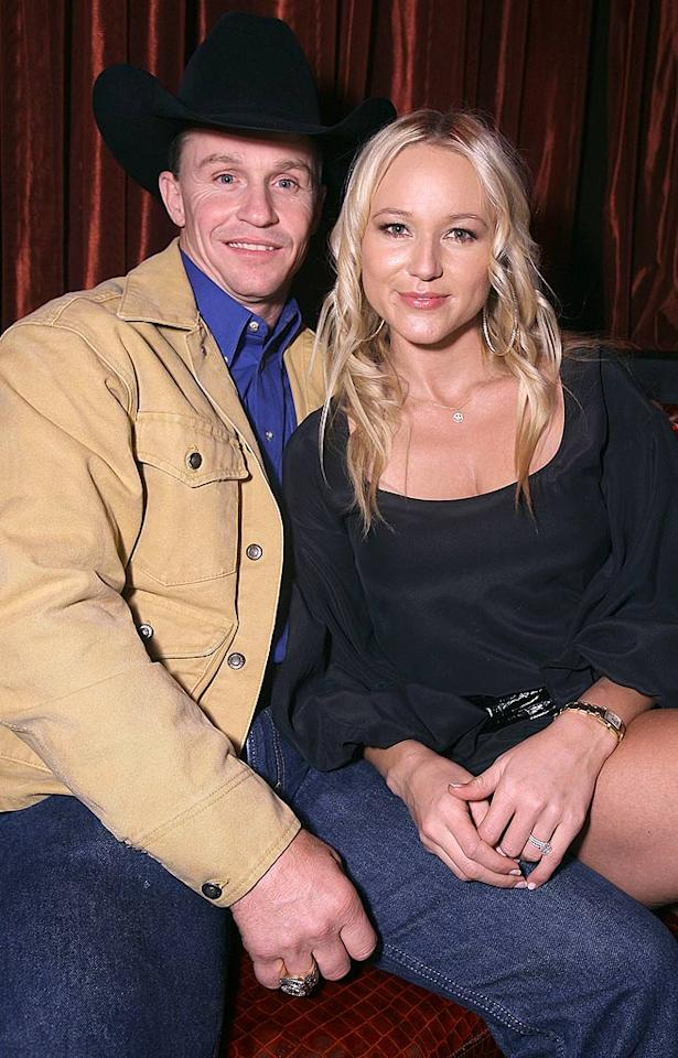 "Country singer Jewel wrangled up professional bull rider Ty Murray in matrimony on August 7, 2008. The couple married in the Bahamas after ten years together. Chris Weeks/<a href=""http://www.wireimage.com"" target=""new"">WireImage.com</a> - December 1, 2008"