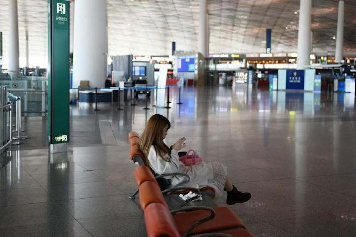 With most international flights cancelled and nearly all foreigners barred from entering the country, the vast majority of returnees are Chinese nationals (AFP Photo/GREG BAKER)