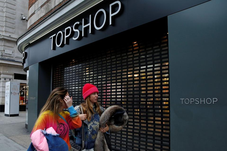 Topshop's owner Arcadia Group has collapsed into administration (AFP via Getty Images)