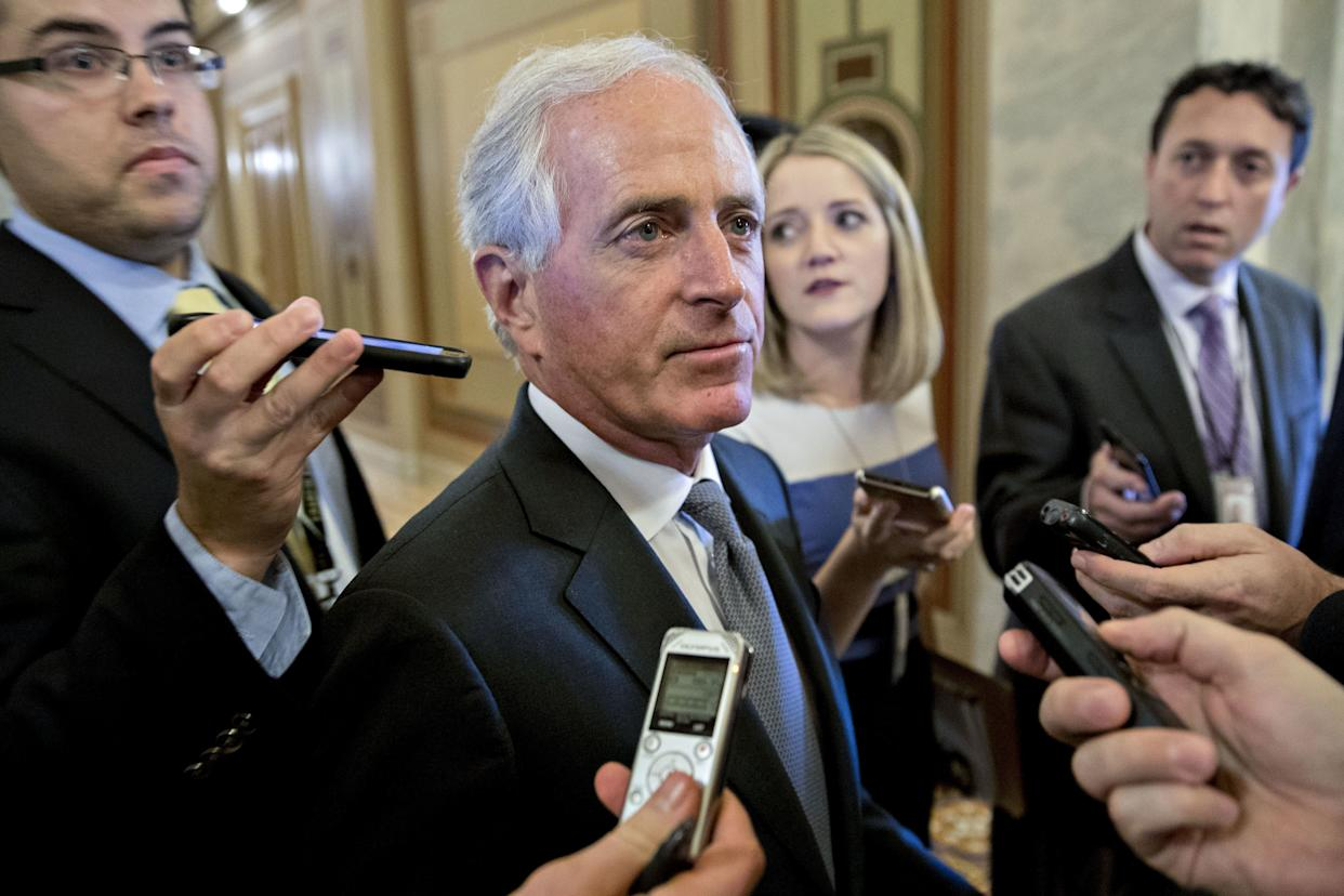 """Sen. Bob Corker (R-Tenn.) had proposed a """"trigger"""" to increase some taxes if revenue targets weren't reached. That appears to be off the table now. (Photo: Andrew Harrer/Bloomberg via Getty Images)"""