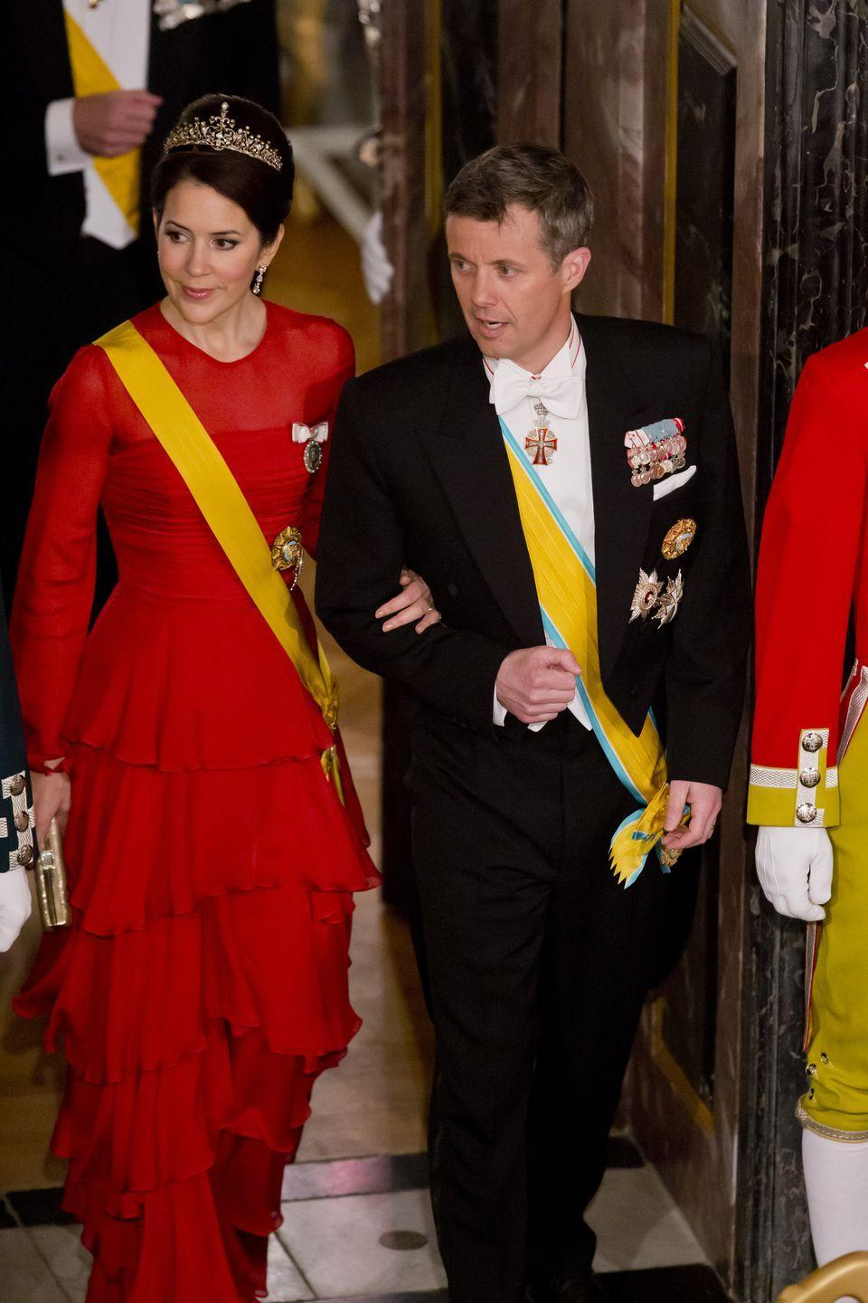 <p>A practical princess, she's worn this Jesper Høvring gown several times this year.</p>