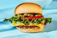 """<p>No need to book a flight to the West Coast to get your paws on this famous patty. Vegan cheese and """"special"""" sauce really make your favorite burger alternative (like the <a href=""""https://www.womenshealthmag.com/food/a21050196/the-impossible-burger/"""" rel=""""nofollow noopener"""" target=""""_blank"""" data-ylk=""""slk:Impossible Burger"""" class=""""link rapid-noclick-resp"""">Impossible Burger</a>) shine.<br></p><p><a class=""""link rapid-noclick-resp"""" href=""""https://www.womenshealthmag.com/food/a32853339/vegan-in-n-out-style-burger-recipe/"""" rel=""""nofollow noopener"""" target=""""_blank"""" data-ylk=""""slk:GET THE RECIPE"""">GET THE RECIPE</a></p><p><em>*Nutritional information not available</em></p>"""