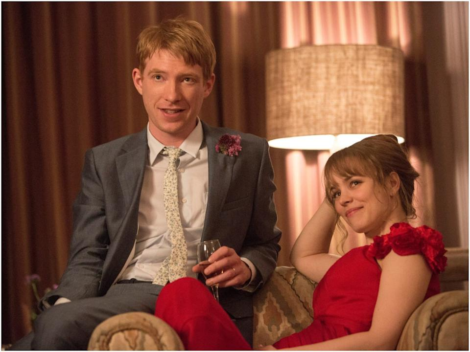 "Domhnall Gleeson and Rachel McAdams costar in ""About Time."""
