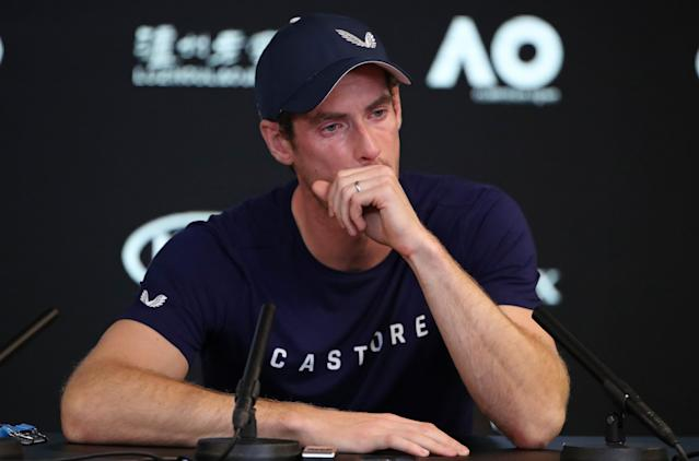 <p>Calling it a day: An emotional Murray announces plans to hopefully end his career at Wimbledon in 2019. (Getty Images) </p>