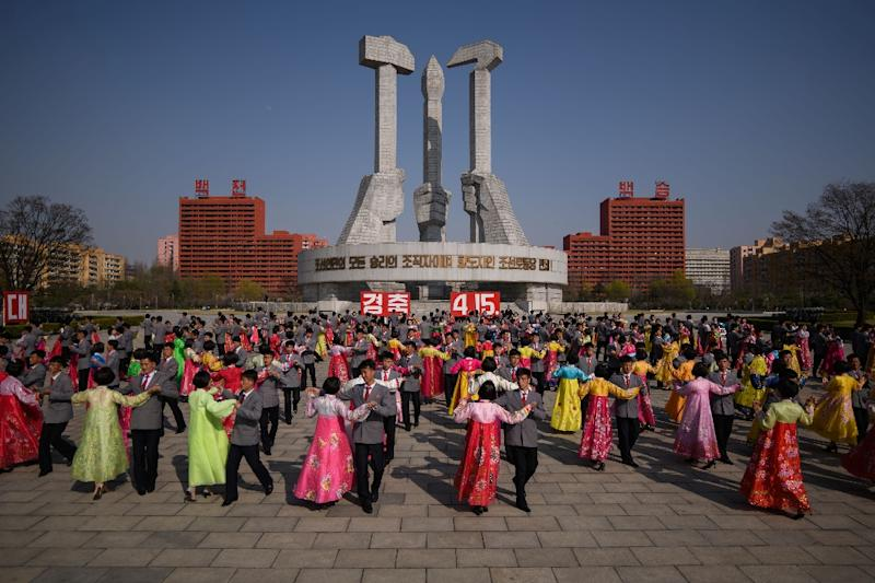 The Kim dynasty is revered in North Korea, with celebrations held every year on the anniversary of the birth of Kim Il Sung, Kim Jong Un's grandfather (AFP Photo/Ed JONES)