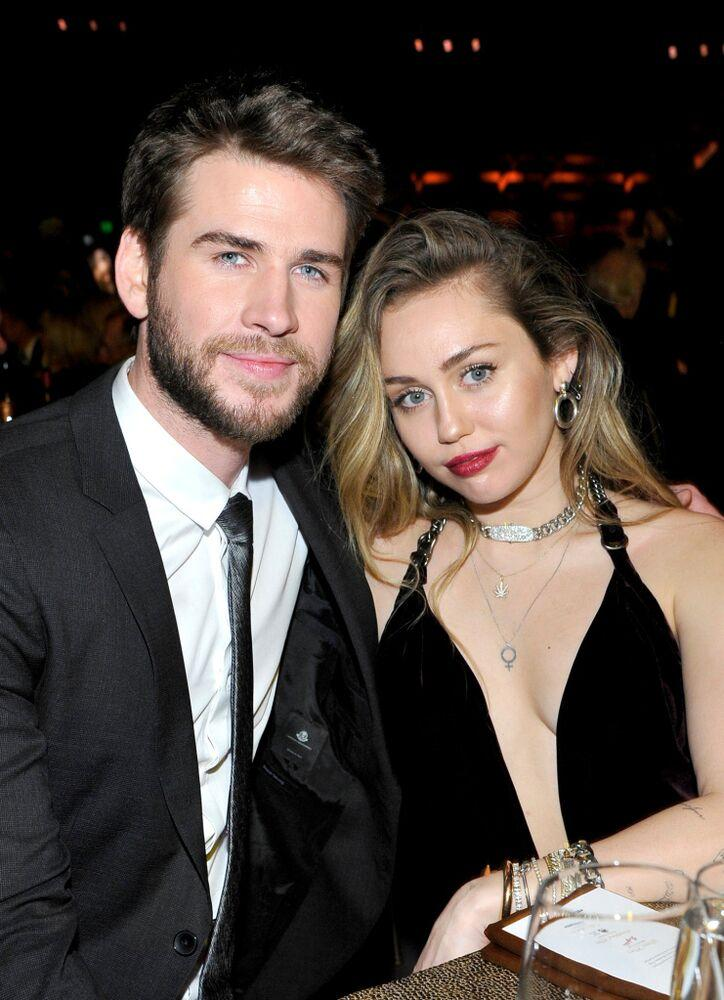 Liam Hemsworth and Miley Cyrus | John Sciulli/Getty Images