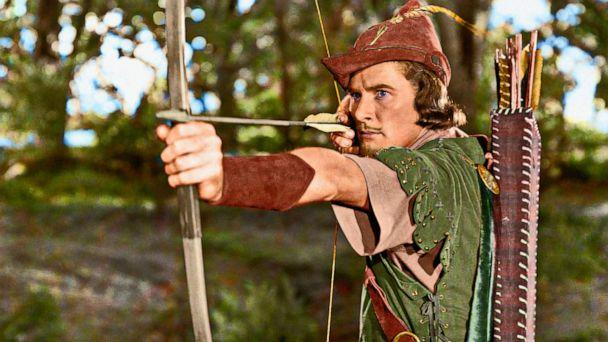 PHOTO: Errol Flynn plays the role of Robin Hood in the 1938 movie The Adventures of Robin Hood.  (Hollywood Photo Archive/Mediapunch via Shutterstock, FILE)