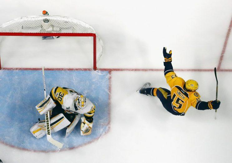 Video review gives Nashville Predators second goal in Game 4
