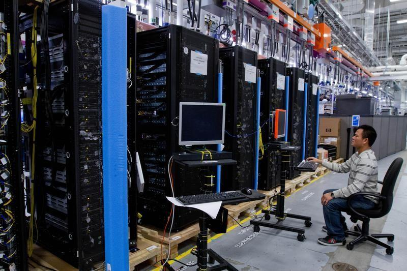 Hewlett-Packard ProLiant commercial data servers are assembled in Houston.