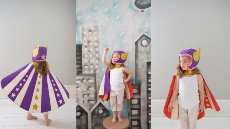 Let your little one's imagination run wild as they cosplay a real super hero–or supervillain!