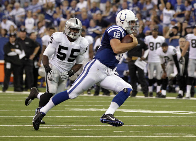 Colts use Luck's feet to get past Oakland 21-17