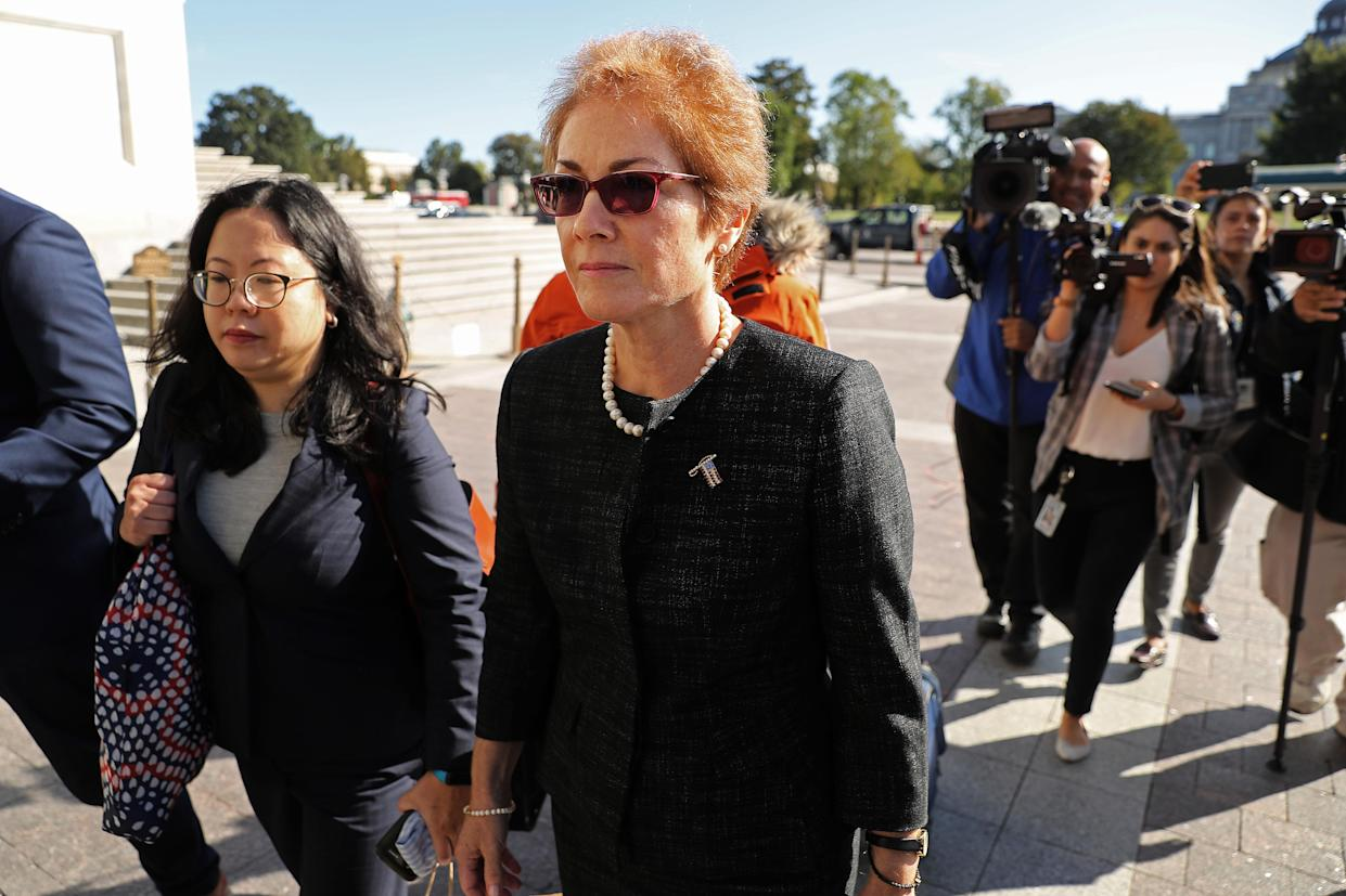 Marie Yovanovitch arrives at the U.S. Capitol on Oct. 11. (Photo: Chip Somodevilla/Getty Images)