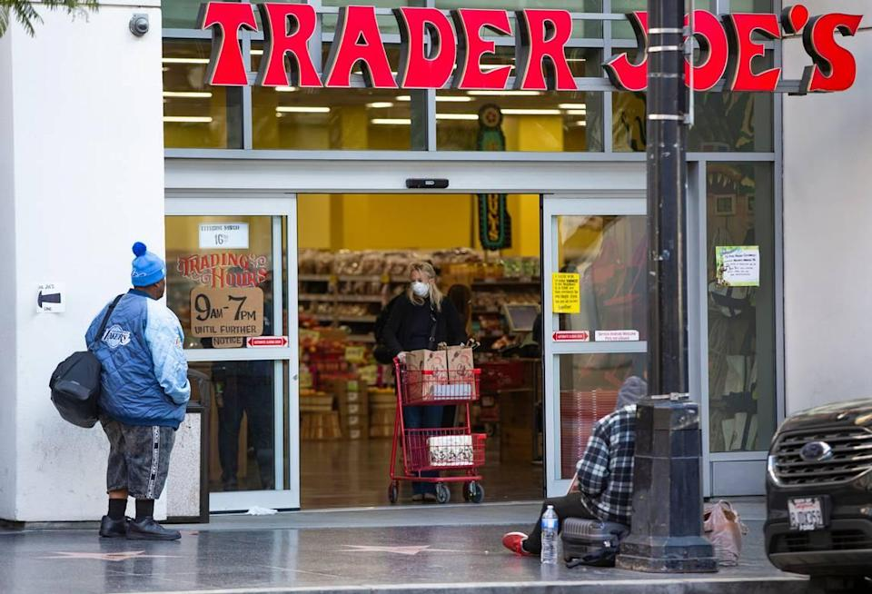 In accordance with new guidance from the CDC, Trader Joe's was among the retailers announcing Friday that vaccinated people do not have to wear face masks in its stores.