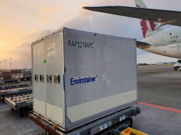 Consignment of India Made Vaccines arrives in Denmark (Pic Credit: EAM Twitter)