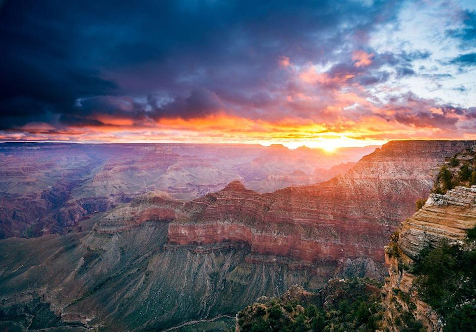 <p>Mother nature puts on a colorful show every morning at the Grand Canyon. </p>