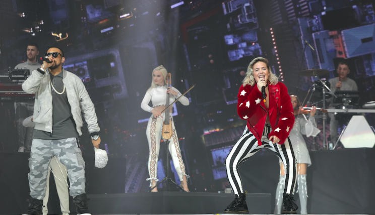 Clean Bandit perform with Sean Paul and Anne-Marie during Capital's Jingle Bell Ball