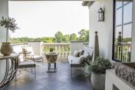"<p>It's always wise to create a terrace equipped with both indoor and outdoor space so you can relax in the shade for a quick break from the heat. </p><p><em>Design by </em><a href=""http://designers.elledecor.com/interior-designers/ginger-barber-design"" rel=""nofollow noopener"" target=""_blank"" data-ylk=""slk:Ginger Barber Design"" class=""link rapid-noclick-resp""><em>Ginger Barber Design</em></a></p>"