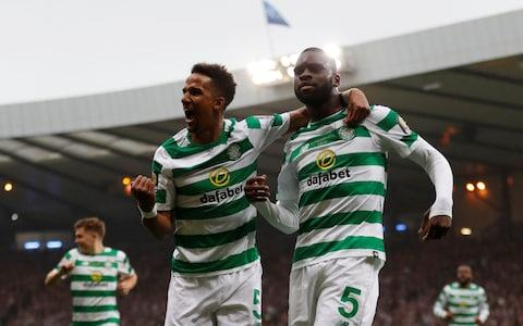 Edouard scored twice to drag Celtic back and claim the treble  - Credit: REUTERS