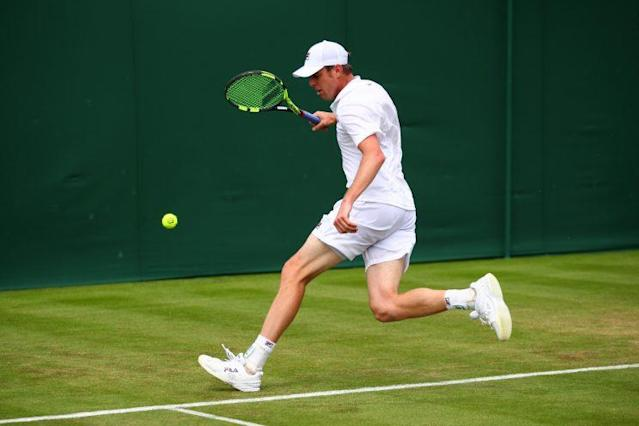 Sam Querrey falls two sets short of the Wimbledon final. (Getty)