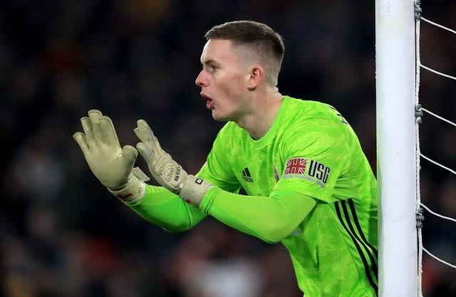 Dean Henderson cannot play against parent club Manchester United (Mike Egerton/PA)