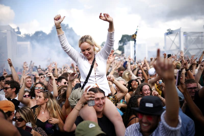 FILE PHOTO: People attend GALA festival in south London