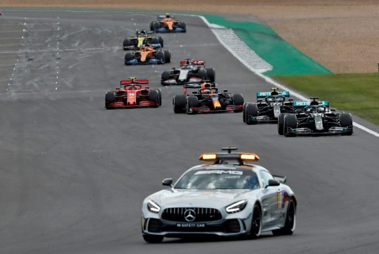 The safety car came out for a second time at Silverstone after Daniil Kvyat crashed (AFP Photo/Frank Augstein)