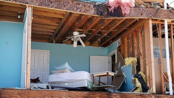 PHOTO: A bedroom of a destroyed house is pictured following Hurricane Michael in Mexico Beach, Fla., Oct. 11, 2018. (Carlo Allegri/Reuters)