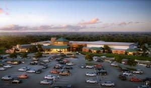Rendering of Four Winds South Bend. Courtesy of the Pokagon Band of Potawatomi Indians and its Four Winds Casinos. Click here for high-resolution version