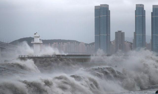 Typhoon Haishen: Storm makes landfall in South Korea after battering Japanese islands