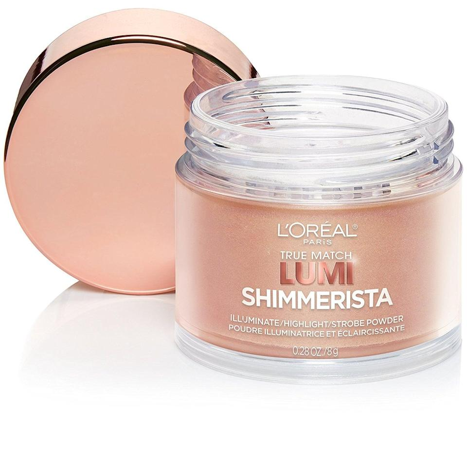 <p>This superblendable <span>L'Oreal Paris Lumi Shimmerista Highlighting Powder</span> ($11) comes in two gorgeous colors: Moonlight and Sunlight.</p>