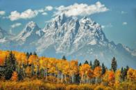 """<p><strong>Grand Teton National Park</strong></p><p><a href=""""https://www.nps.gov/grte/index.htm"""" rel=""""nofollow noopener"""" target=""""_blank"""" data-ylk=""""slk:Grand Teton National Park"""" class=""""link rapid-noclick-resp"""">Grand Teton National Park</a> in Northwestern Wyoming spans 310,000 acres of unbelievable country from mountain ranges to clear blue lakes. The park's next door neighbor is Yellowstone, the world's first National Park. </p>"""