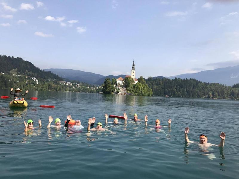 Swimmers bond quickly on Strel Swimming Adventures (Strel Swimming Adventures)
