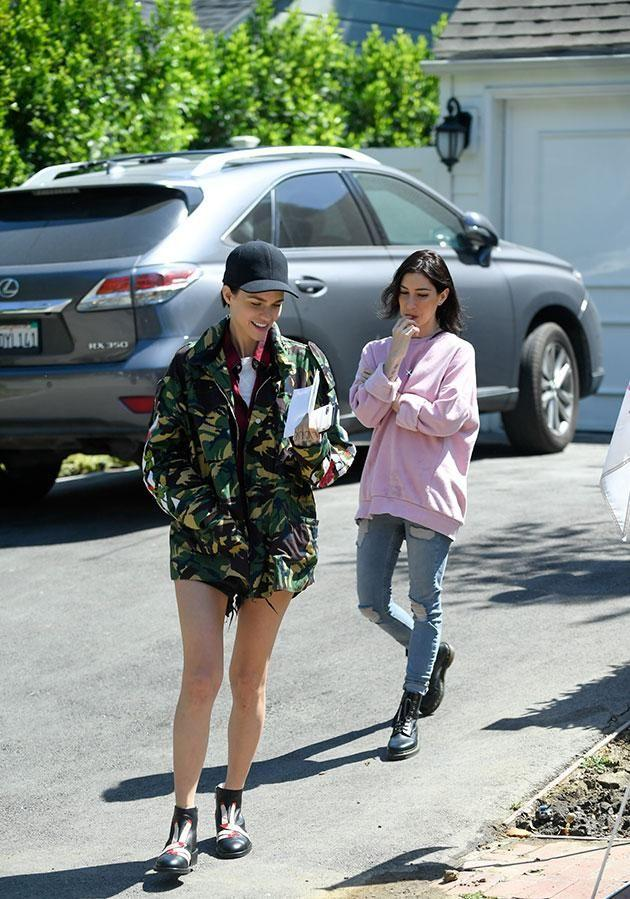 The pair were seen house-hunting in LA on Sunday. Source: Mega