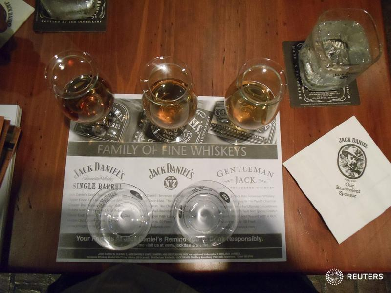 FILE PHOTO: A Whiskey tasting station is seen at the Jack Daniel's distillery in Lynchburg, Tennessee