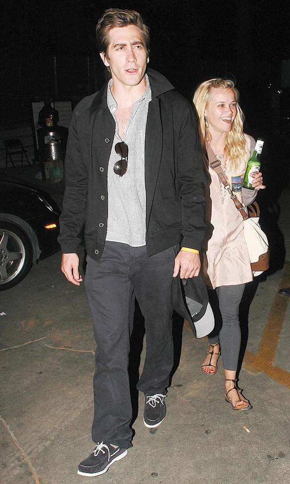 """Also in attendance ... another one of Tinseltown's hottest couples, Jake Gyllenhaal and Reese Witherspoon. <a href=""""http://www.x17online.com"""" target=""""new"""">X17 Online</a> - July 12, 2009"""