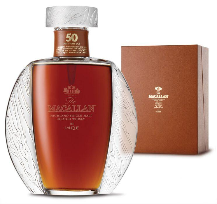 The Macallan whisky in a hand blown Lalique 50 glass decanter (Macallan/SWNS)