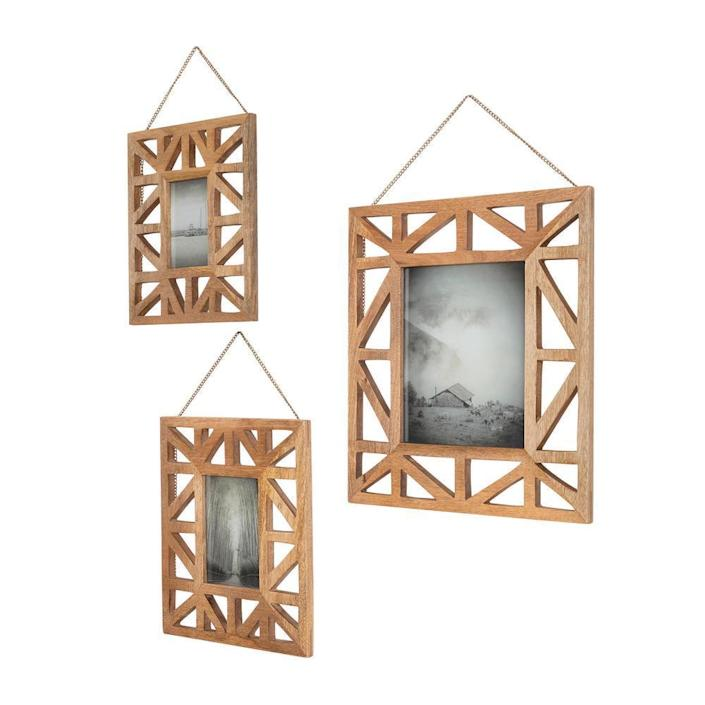 Home Decorators Collection Wooden Geometric Picture Frames