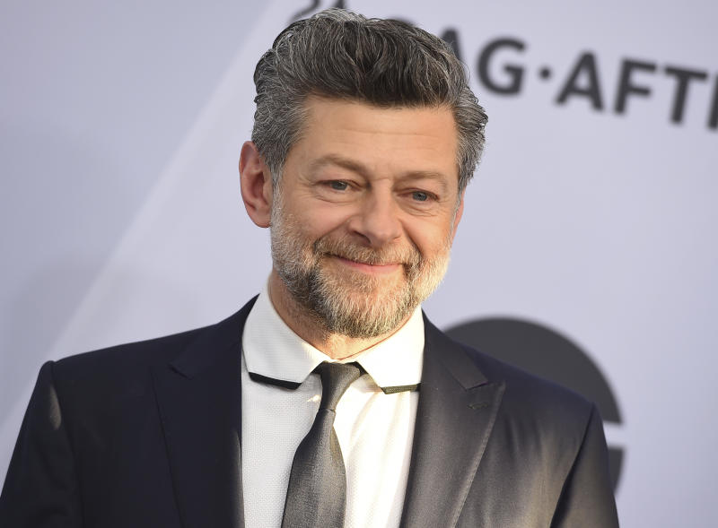 Andy Serkis arrives at the 25th annual Screen Actors Guild Awards at the Shrine Auditorium & Expo Hall on Sunday, Jan. 27, 2019, in Los Angeles. (Photo by Jordan Strauss/Invision/AP)
