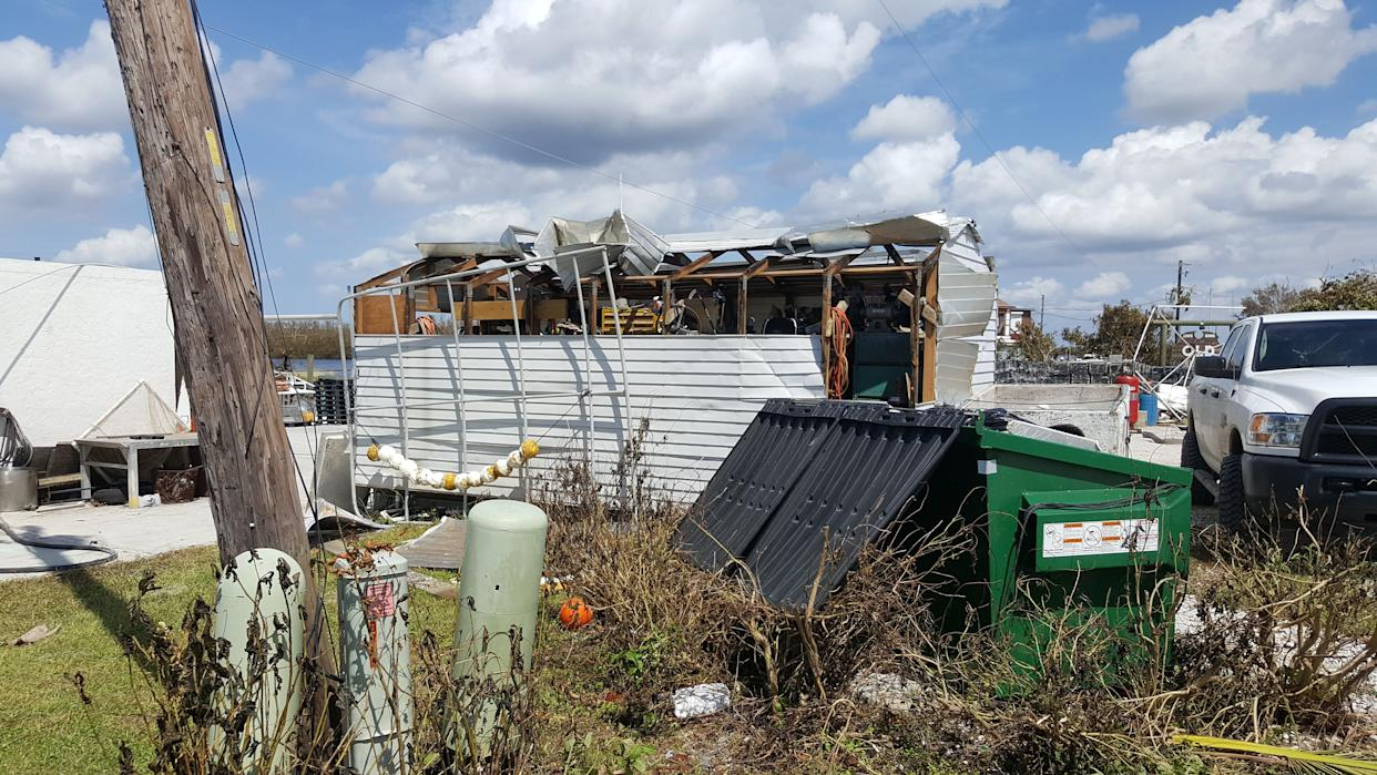 A damaged shed used by Kirk Fish Company. (Photo: David Lohr/HuffPost)