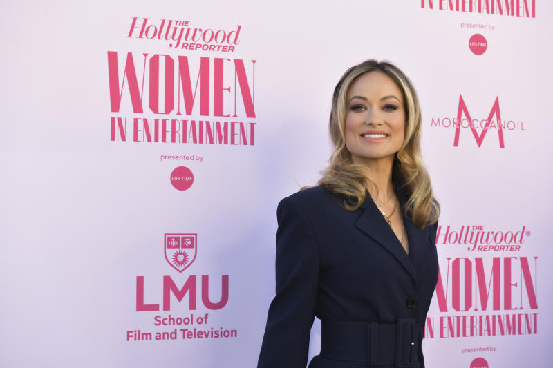 HOLLYWOOD, CALIFORNIA - DECEMBER 11: Olivia Wilde attends The Hollywood Reporter's Annual Women in Entertainment Breakfast Gala at Milk Studios on December 11, 2019 in Hollywood, California. (Photo by Rodin Eckenroth/Getty Images )
