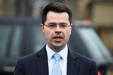 Northern Ireland Secretary of State James Brokenshire speaks to media outside Stormont Castle in Belfast