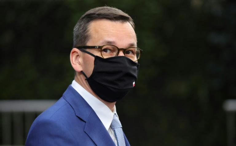 """Polish Prime Minister Mateusz Morawiecki (pictured October 2020) said a """"European oligarchy"""" was trying to bully weaker EU members, while his Hungarian counterpart Viktor Orban called the conditionality plan a form of """"blackmail"""""""
